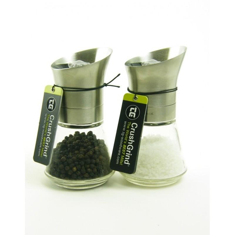 Tip Top Salt & Pepper Mills - Stainless Steel