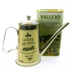 Vallejo Sapnish Extra Virgin Olive Oil and Oil Can